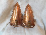 Copper Pine Tree Sconces