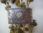 Wide Ingot Stamped bracelet