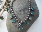 (Sold) – Zuni Squash Blossom Necklace