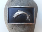 (sold) Silver Rainbow Trout Buckle