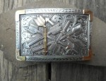 Clint Orms – Broken Arrow Gold and Silver Buckle – Limited Edition
