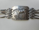 Margaret Sullivan – Cowhorse Silver and Gold Bracelet