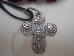 Margaret Sullivan – Silver and Gold Cross Pendant