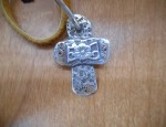 (SOLD) Margaret Sullivan – Silver and Gold Cross Pendant
