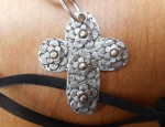 Margaret Sullivan – Floral Cross in Silver and Gold