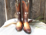 Vintage Men's Boots with Stitching and Foxing