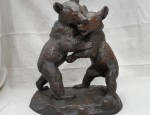 (SOLD) Wrestling Bear Cubs – Circa 1895