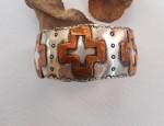 Margaret Sullivan – Silver and Copper Cross Cuff