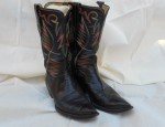 (sold) Willie Lusk – Flame Stitched Boots Circa 1940