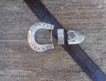 Horse Shoe Buckle in Sterling and Gold