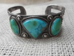 (Sold) Three Stone Turquoise Bracelet