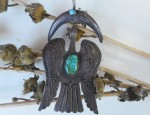 (Sold) Aquatic Prayer Bird Pendant