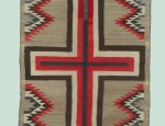 (sold) Navajo Cross Double Saddle Blanket