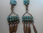 Dishta Two Row Earrings