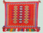 (SOLD) Navajo Germantown Pictorial Saddle Blanket