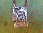 Margaret Sullivan – Sterling Moose Grand teton National Park Necklace