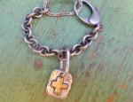 Margaret Sullivan – Sterling and 14kt Gold Bracelet with Charm