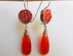 Susan Adams – Sterling and Coral Earrings