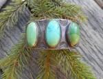 (Sold) – Navajo 3 Stone Cuff Bracelet