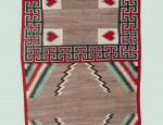 Navajo Heart Double Saddle Blanket