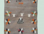 (sold) Navajo Pictorial Double Saddle Blanket