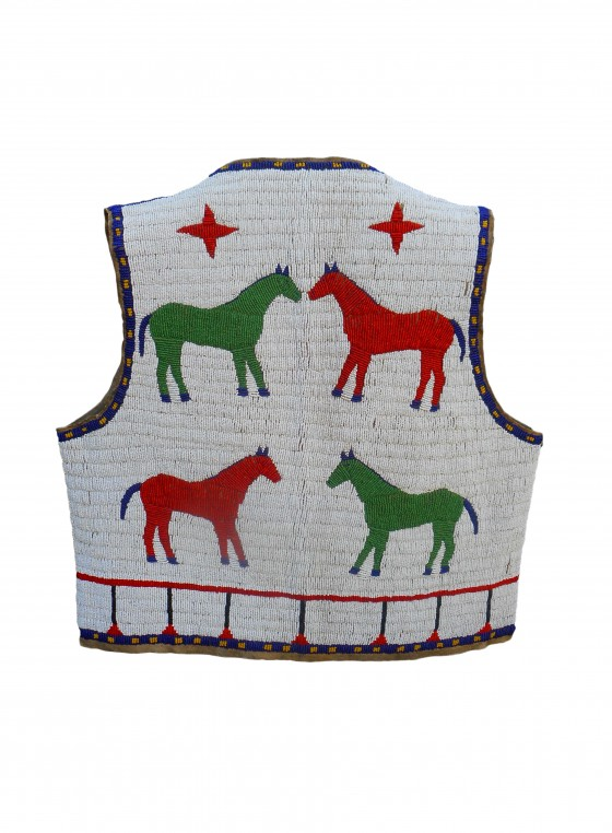Sioux Pictorial Beaded Vest