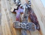 (Sold) – Margaret Sullivan – Three Cross Necklace
