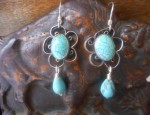 Susan Adams – Filigree Wire Turquoise Earrings