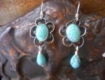 Susan Adams – Filigree Wire Turquoise Earrings