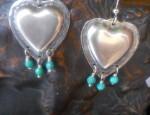 Susan Adams – Repousse Heart Earrings