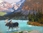 "Don Crouch – ""Moose In Mountain Lake"""
