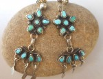 Zuni Cluster Earrings with Drop