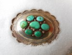 Scalloped Navajo Oval Buckle
