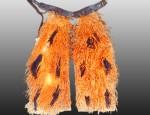 Orange Pinto Wooly Chaps