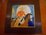 California Pottery Cowboy Tile