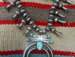 (Sold) Navajo Squash Blossom Necklace