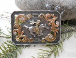 Susan Adams – 14K/Sterling/CZ Racing Cowgirl Buckle