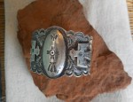(sold) Navajo Bracelet with Thunderbirds and Dome