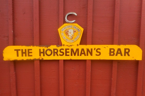 Sold – Horseman's Bar Tin Sign