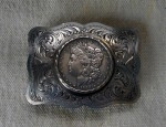 (Sold) Starr's Silver Shop Silver Dollar Buckle