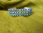 Zuni Dot and Dash Ingot Row Bracelet
