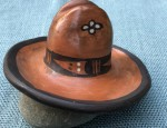 Santo Domingo Miniature Pottery Hat