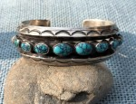 Navajo Cuff With Burnham Stones