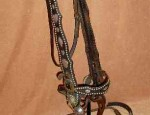 Card Suit Bridle With 101 Ranch Ties