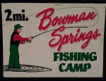 Tin Fishing Camp Sign