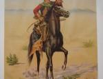 Montana Frank Cowboy Stone Lithograph