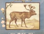 Bemis Bros. Calendar Lithograph – Caribou