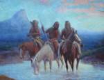 Lone Wolf – Glacier Blackfeet Oil Painting