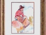 Gerald Cassidy – Cowgirl Watercolor