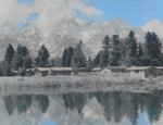 J.E. Stimson – Grand Tetons From Bar BC Ranch